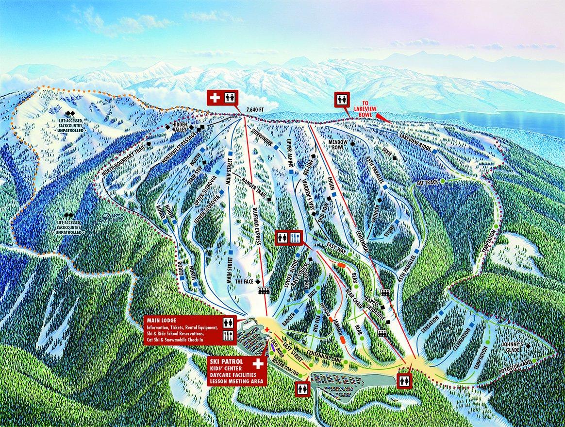 Brundage Mountain Trail Map