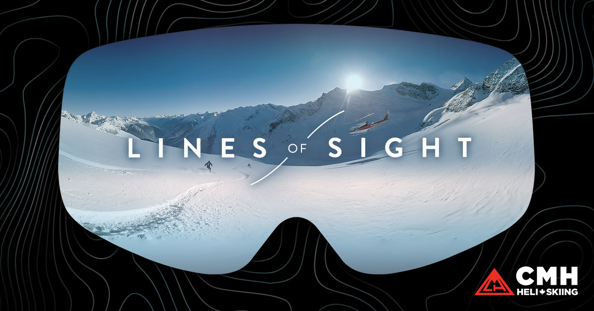 Lines of Sight VR Heli-skiing poster