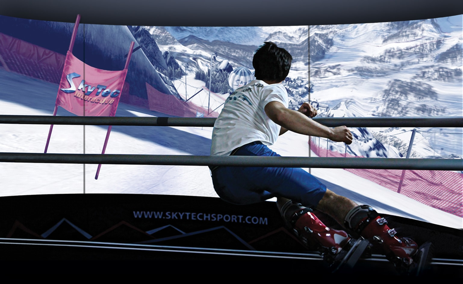 Skiing on a SkyTechSport Simulator