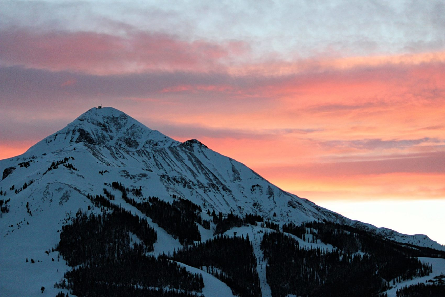 Lone Peak at sunset