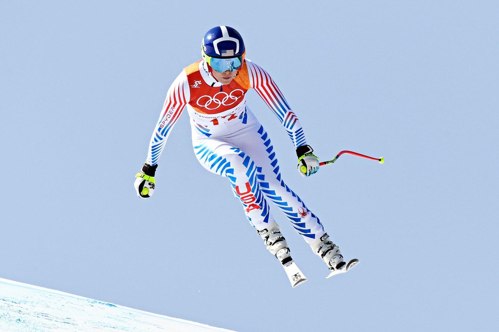Lindsey Vonn downhill third place Olympics 2018