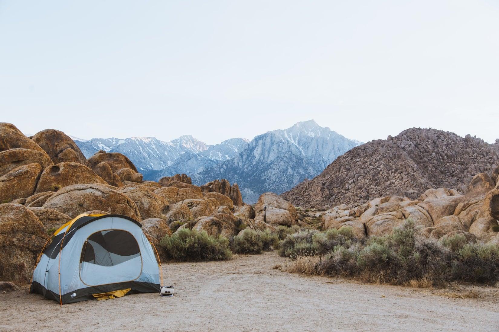 Alabama Hills, camping, california, Inyo County