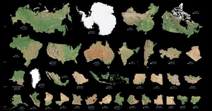 size comparison of countries