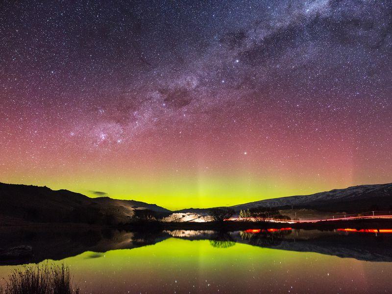 Southern Lights, Aurora Australis, New Zealand, Australia, Antarctica
