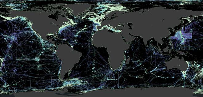 Unmapped ocean floor