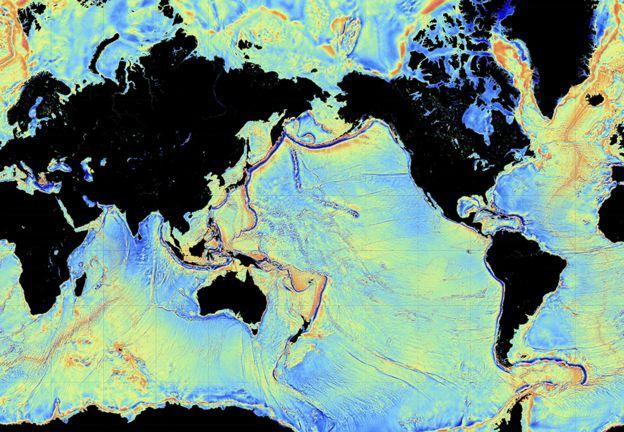 Low resolution ocean floor map