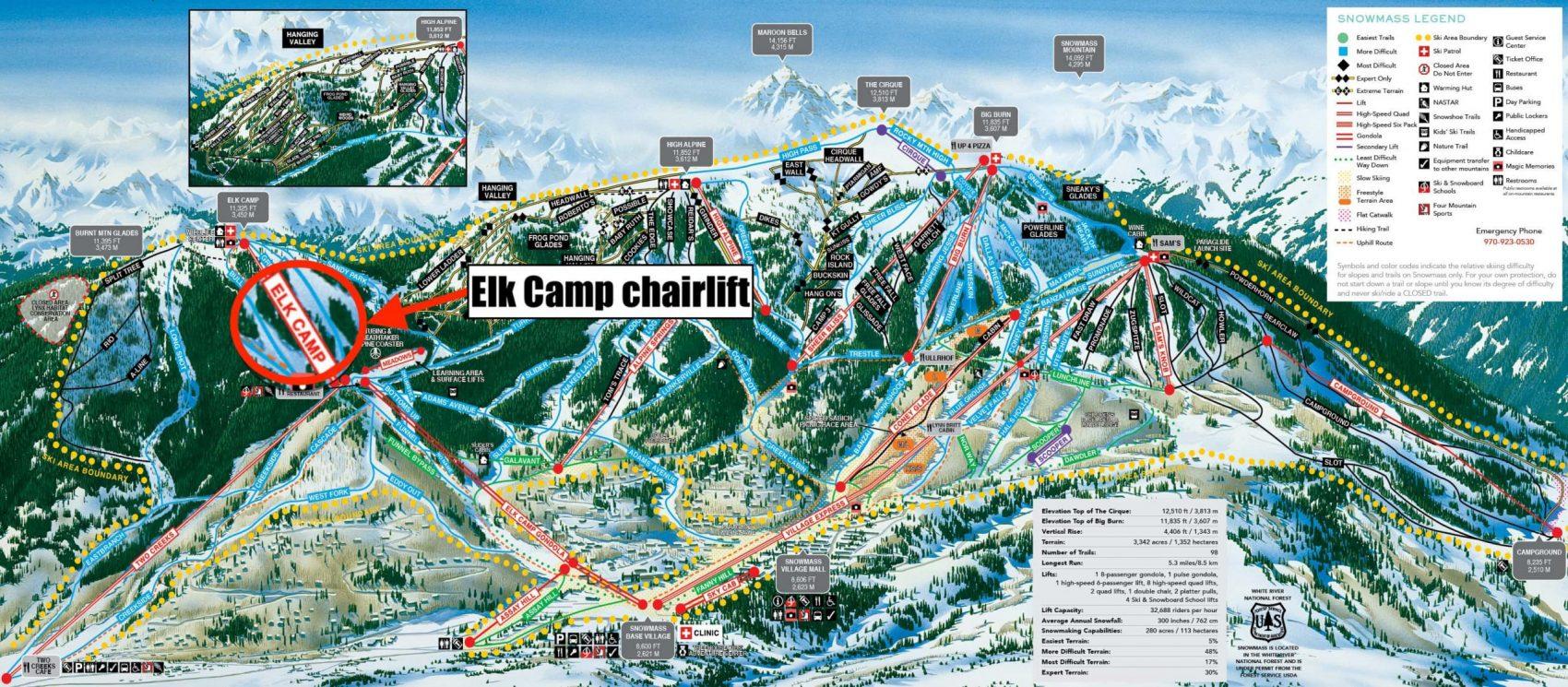 snowmass, colorado, trail map, aspen
