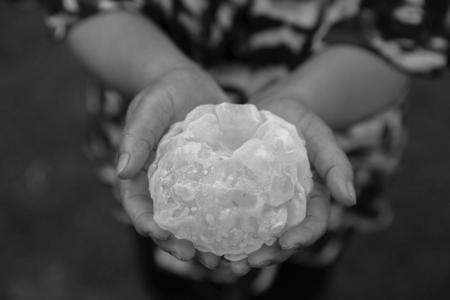 Thunderstorms can produce massive hail