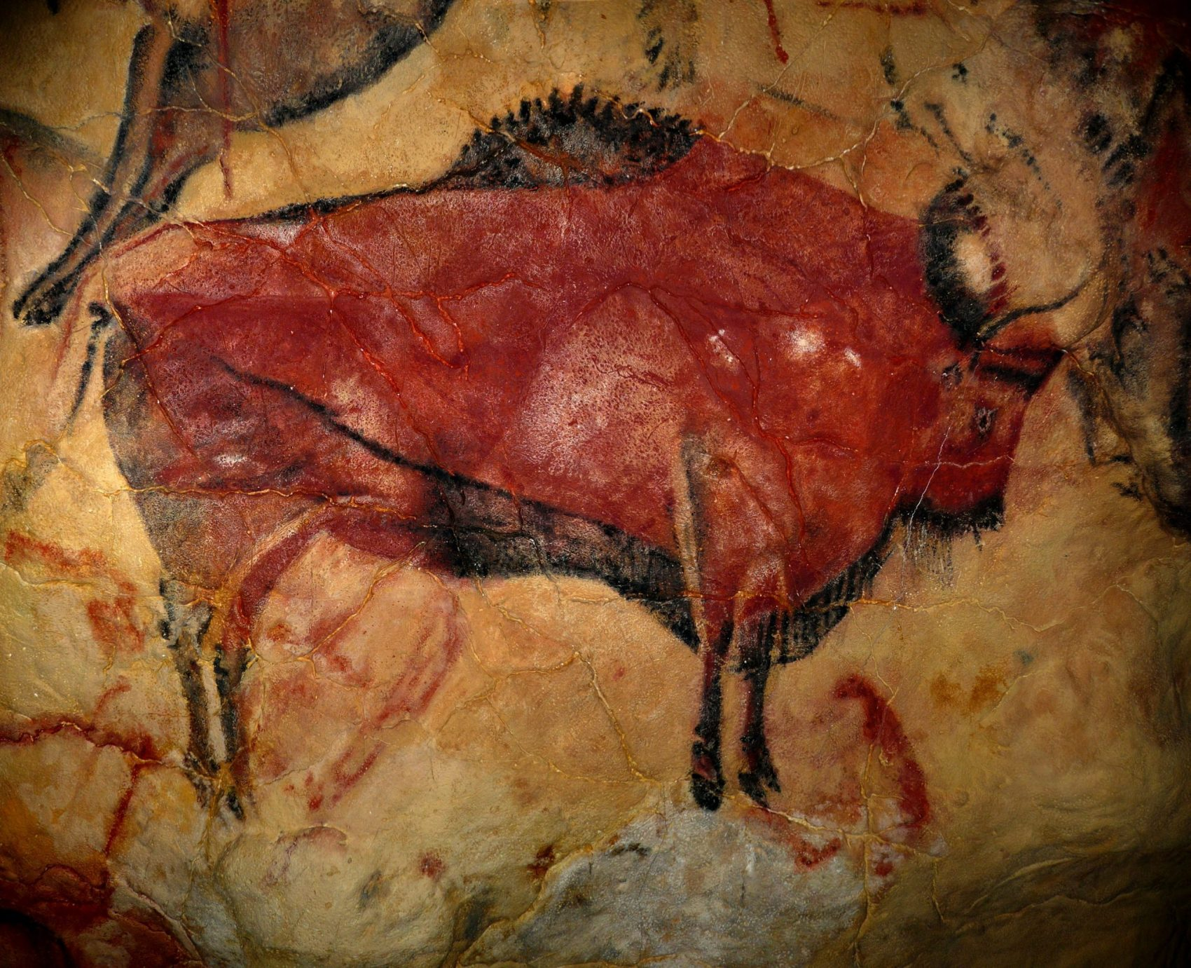 Rock Painting, Bison Steppe