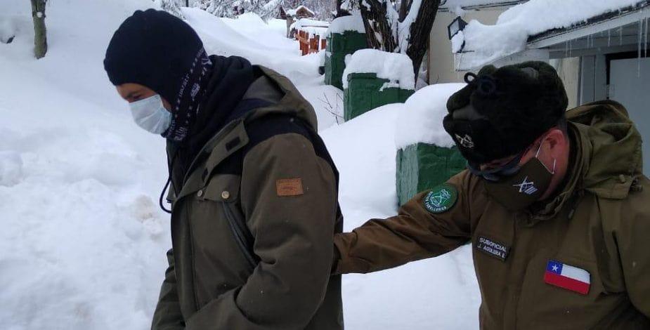 Chilean police, snowboarders, arrested, quarantine, Chile