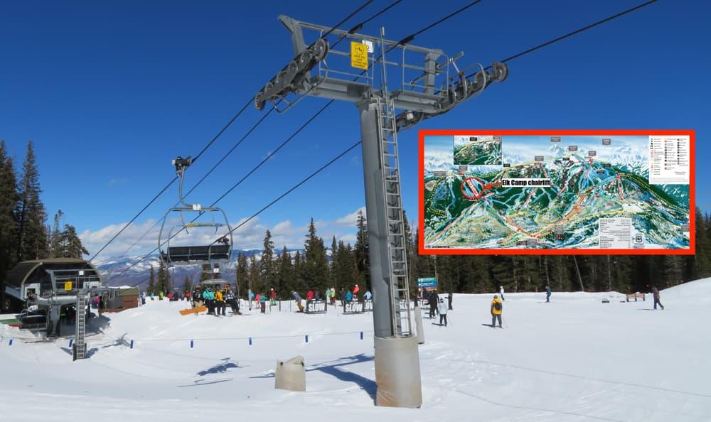 aspen, snowmass, colorado, elk camp chairlift,
