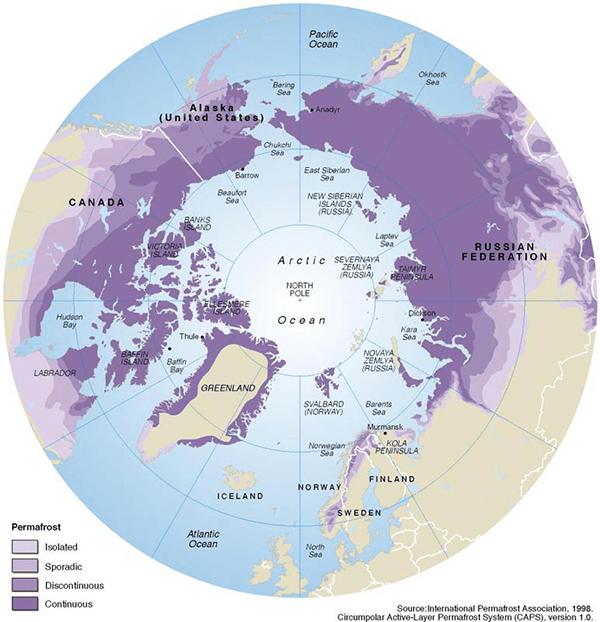 Permafrost Distribution
