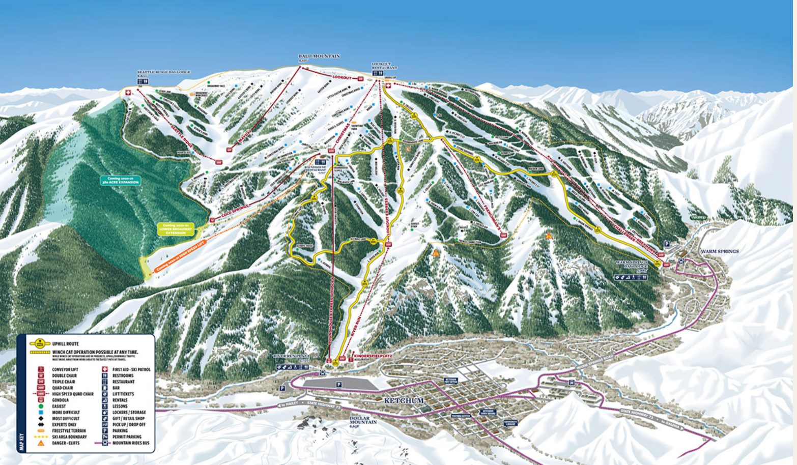 upgrades, sun valley, trail map