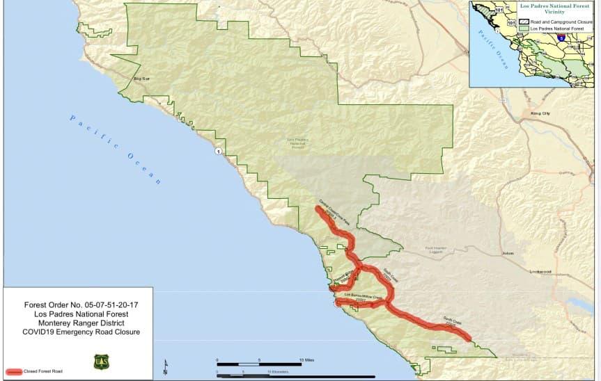 road closures, USFS,