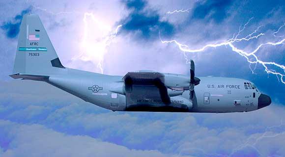 Hurricane Hunter plane