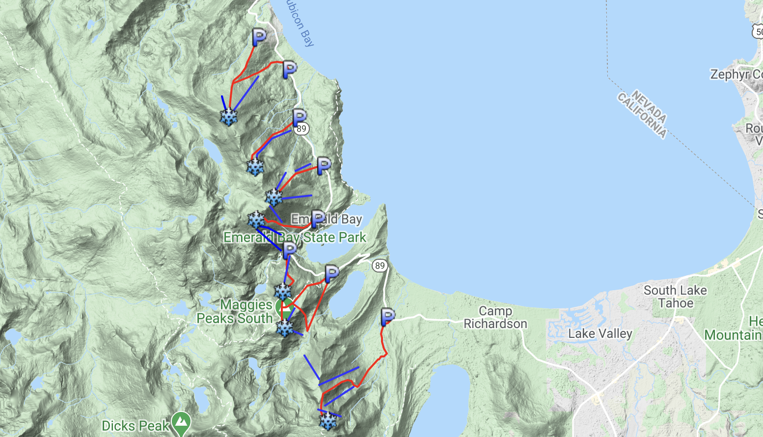 backcountry map,