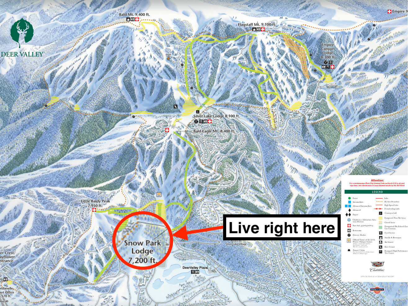 deer valley, utah, trail map