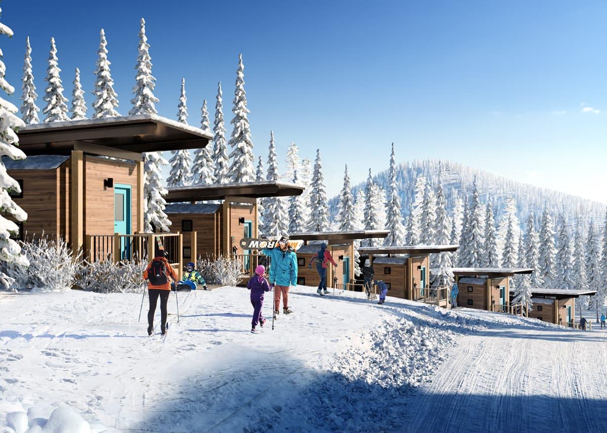 red resort, British Columbia, constella, cabins