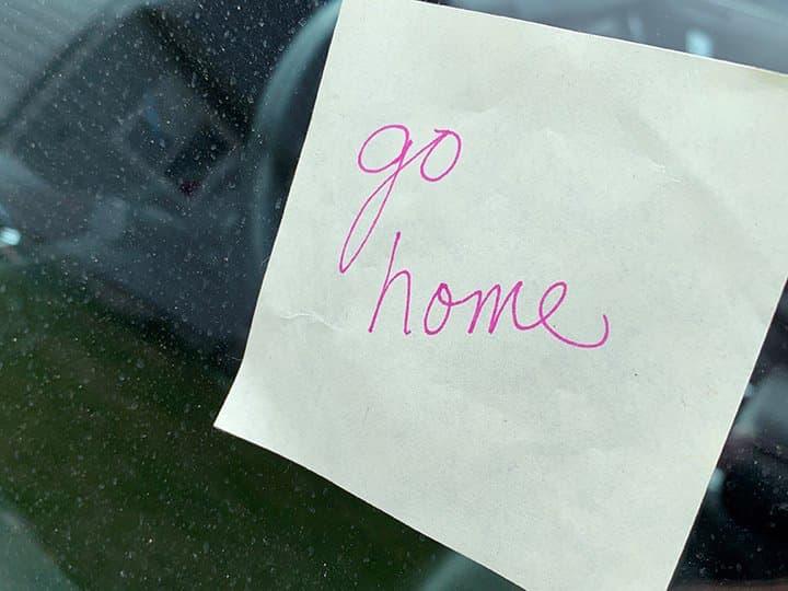 go home, notes,
