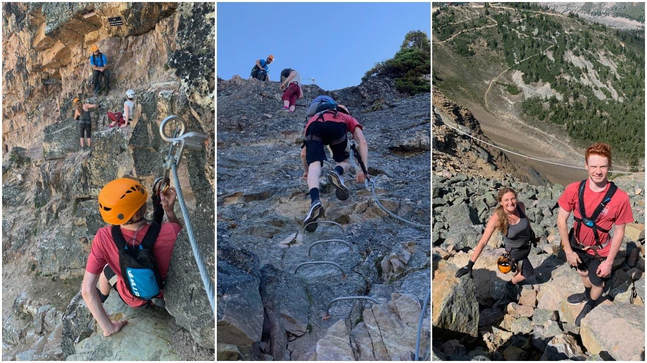rock climbing via ferrata