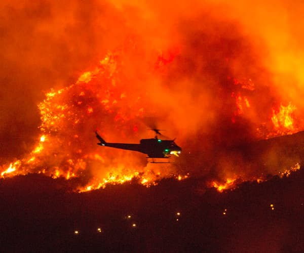 creek fire, wildfire,