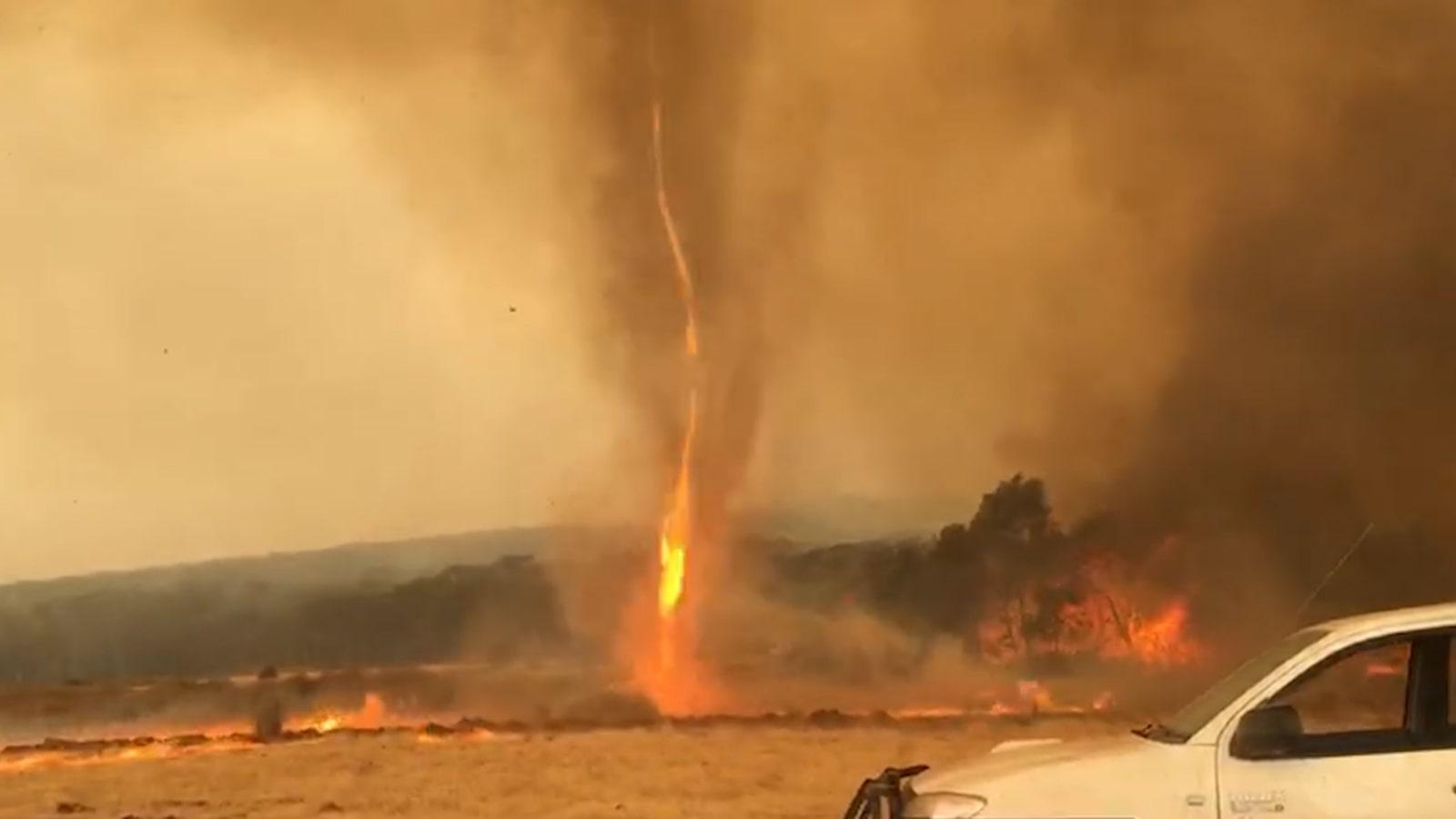 Forecasting fire tornado conditions