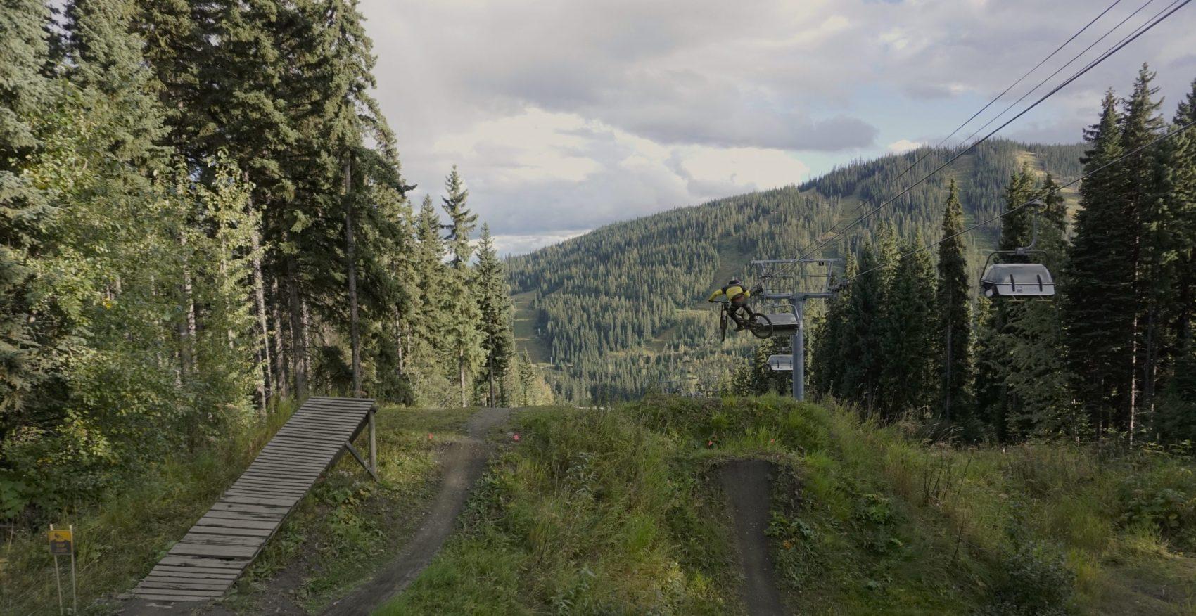 Sun Peaks Bike Park Mountain Biking Chairlift Jump
