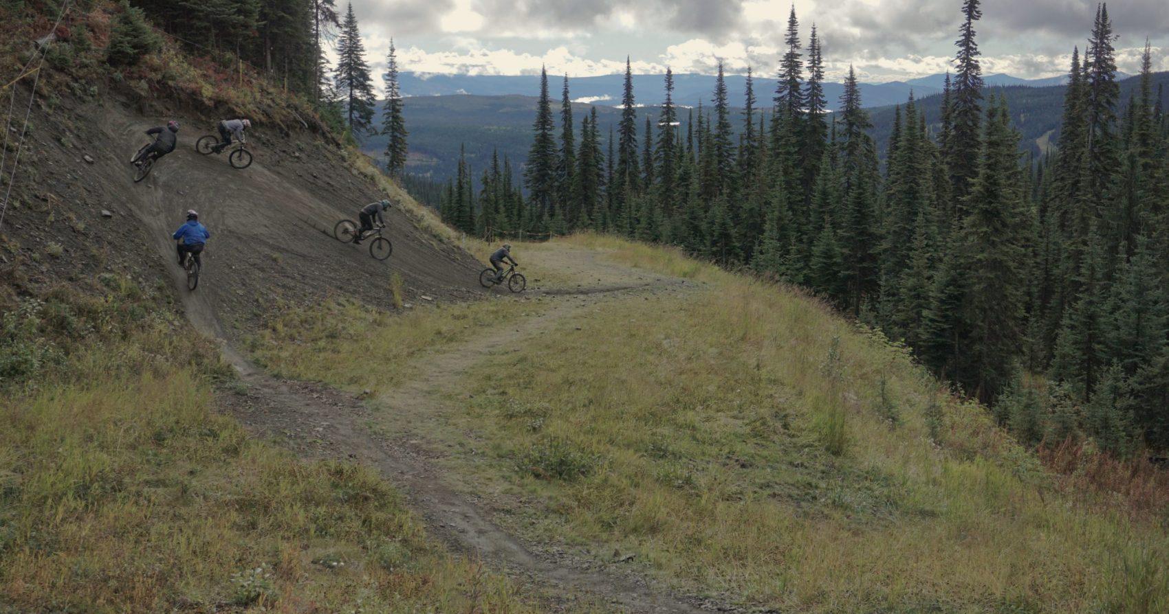 Sun Peaks Bike Park Mountain Biking Wallride