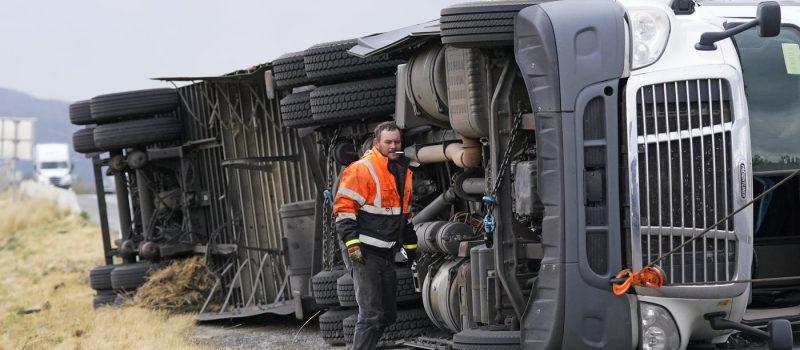 Toppled Truck