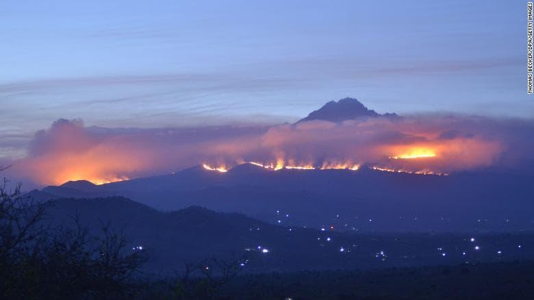 Kilimanjaro, wildfire, africa, tanzania