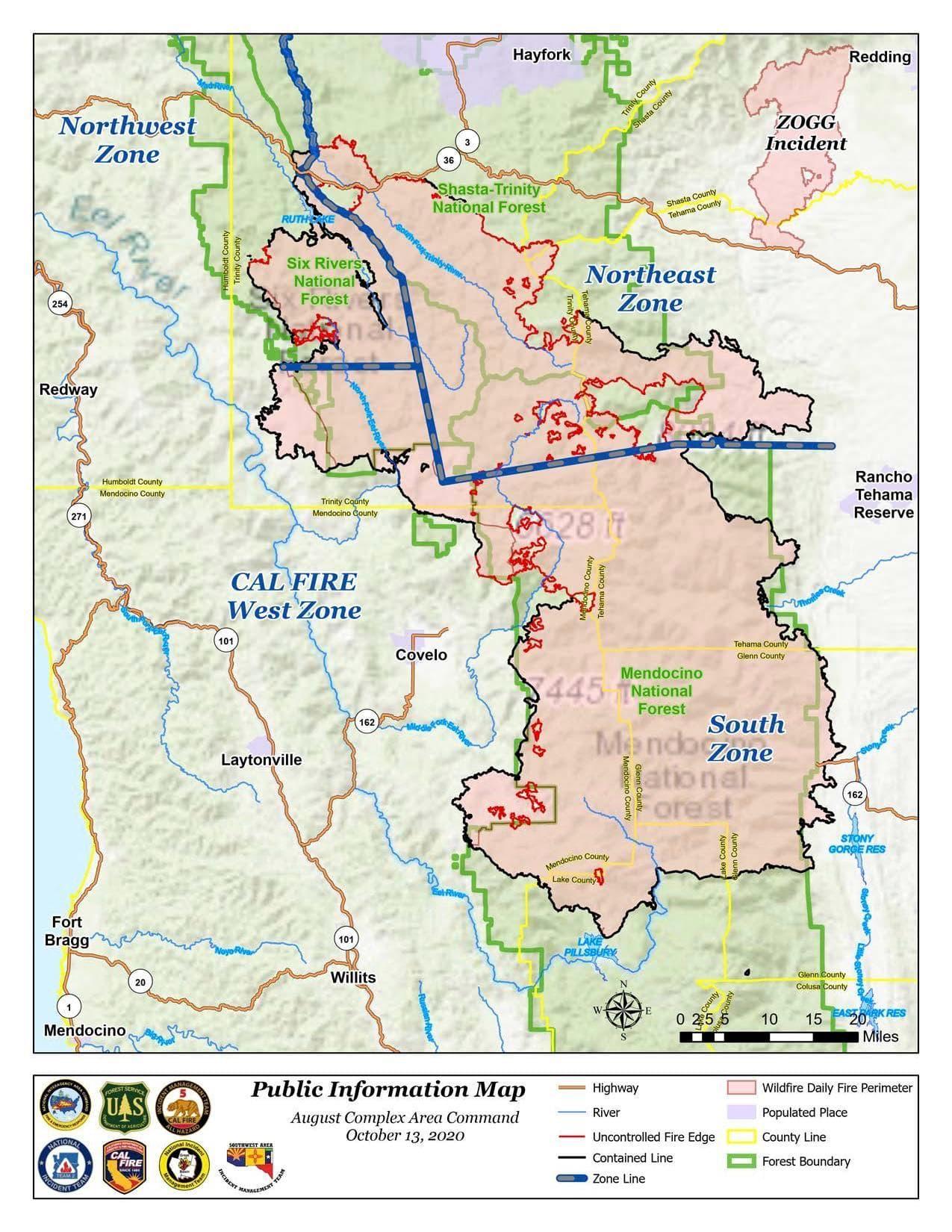 august complex fire, California, gigafire