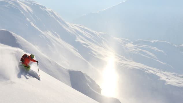 Austrian ski resort Arlberg