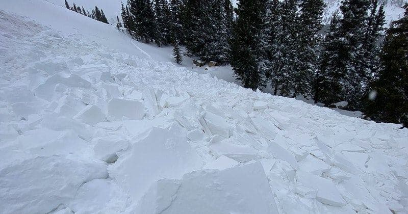 avalanche, Berthoud Pass, colorado