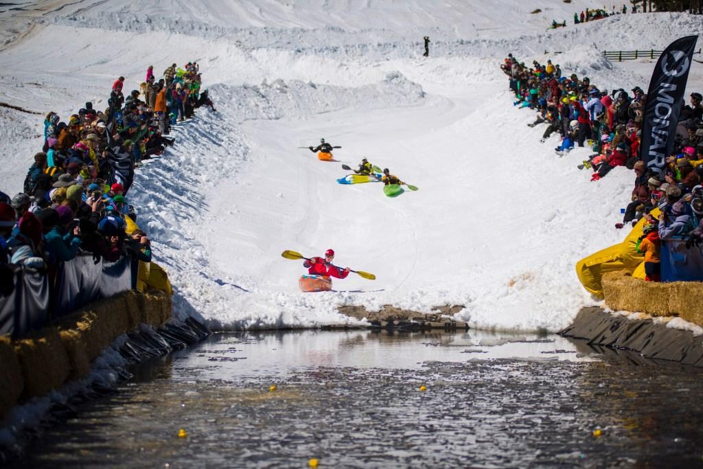 kayaks on snow, monarch, ski traditions,