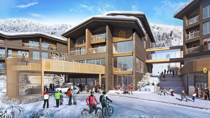 Le Massif Village Render Winter