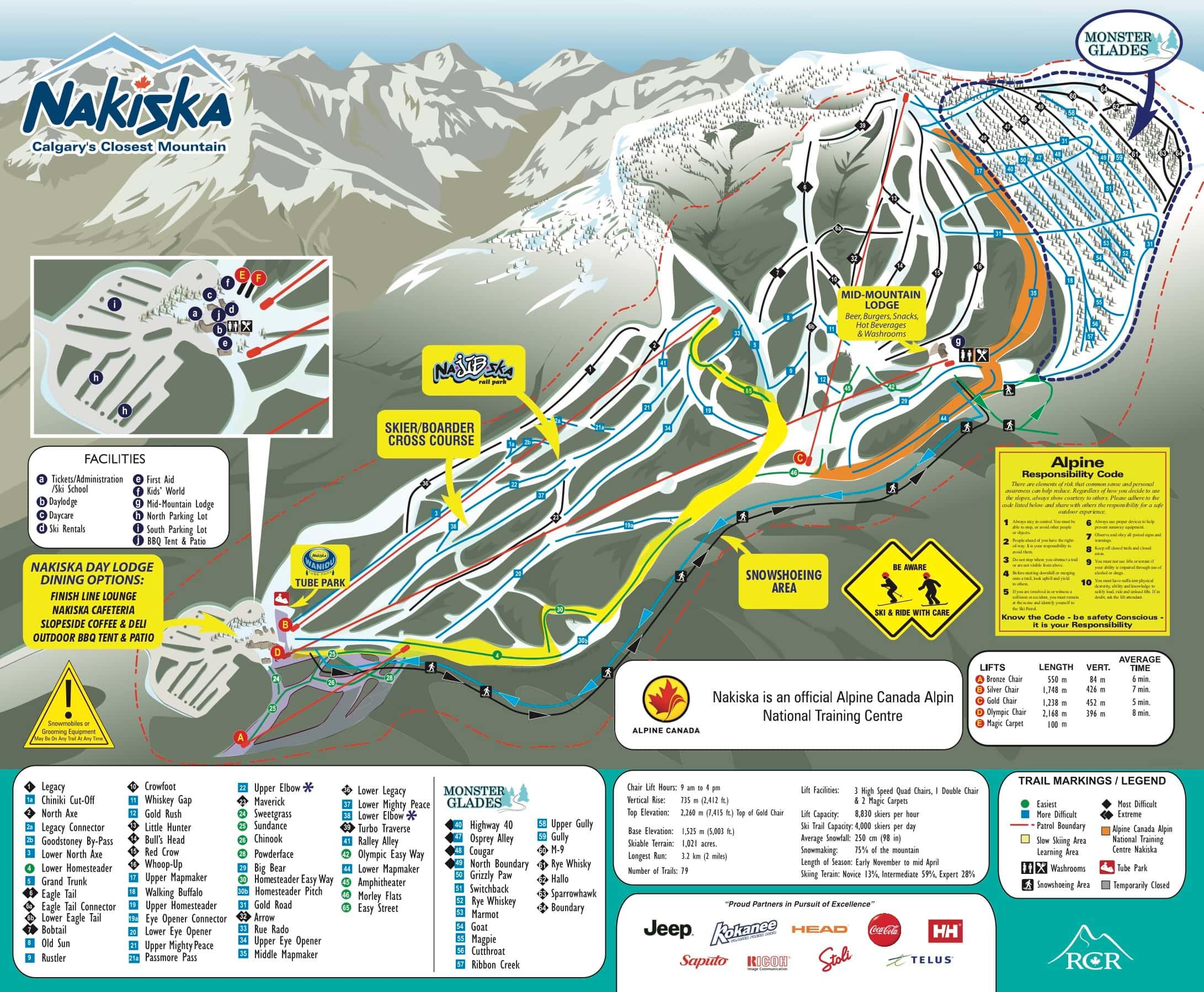 Nakiska trail map