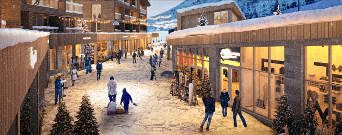 Le Massif Village Winter Concept Art