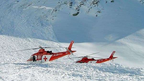 Swiss avalanche accident rescue