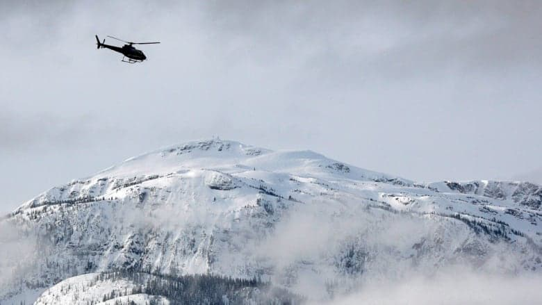 avalanche, snow bikers, helicopter,