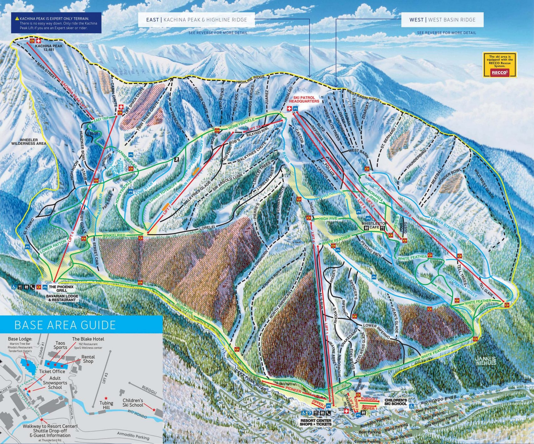 taos ski valley, New Mexico, trail map
