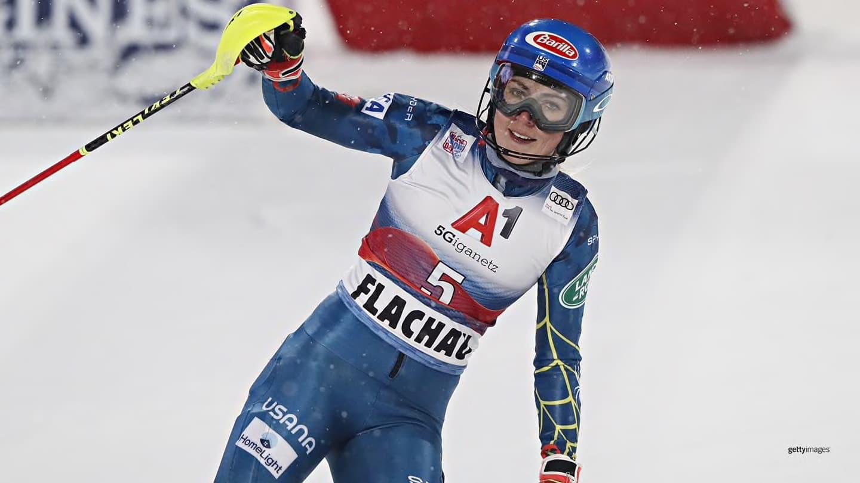 Mikaela Shiffrin, slalom, victory