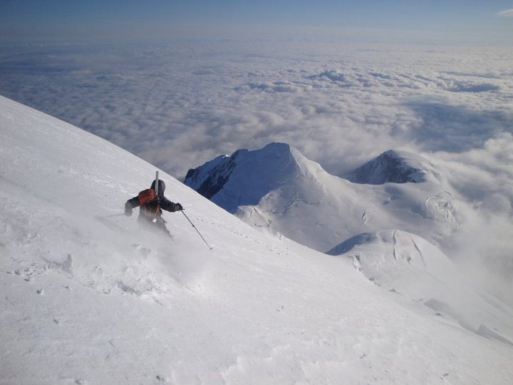 skier on the south side