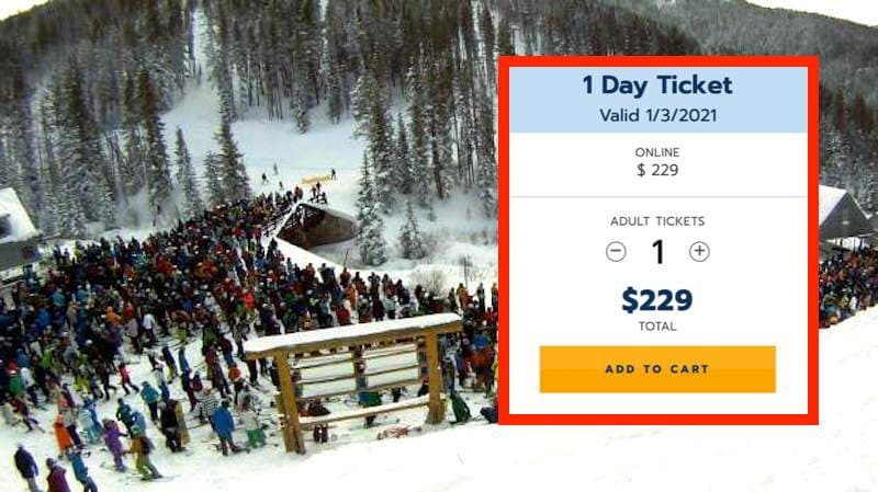 vail, lift lines, record high, prices, snowbrains
