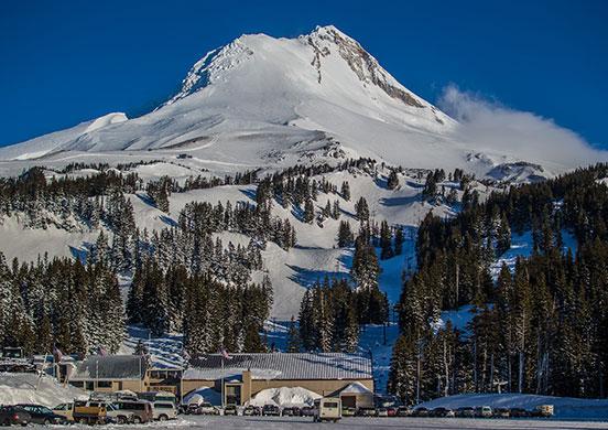 Base of Mount Hood Meadows Resort