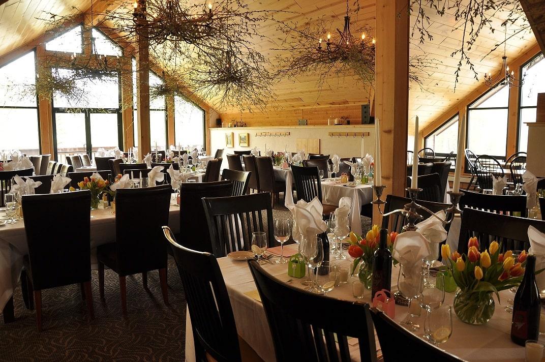 Ski lodge restaurant