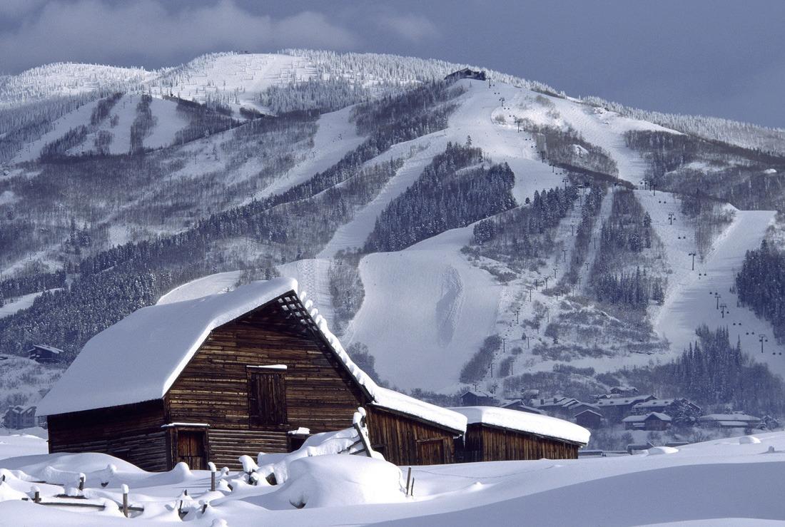 Snowfall In Steamboat Colorado