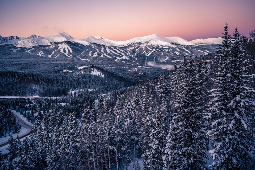 Breck at sunset
