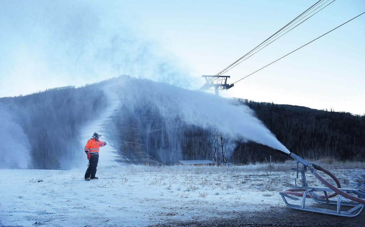 Blowing Snow in Steamboat Colorado