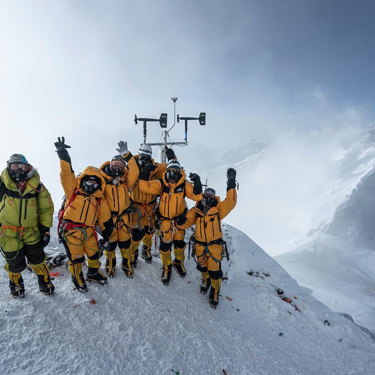 Expedition on Everest Celebrating