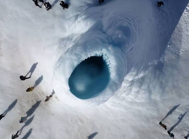 Ice Formation In Kazakhstan